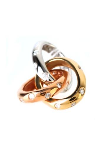 GOLDHEART gold GOLDHEART Pendant, Diamond White Gold, Rose Gold & Yellow Gold 750 (P6141) 16A31AC2CD633FGS_1