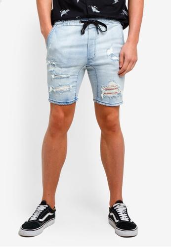 Cotton On 藍色 丹寧短褲 03DD4AAEFDB7FBGS_1