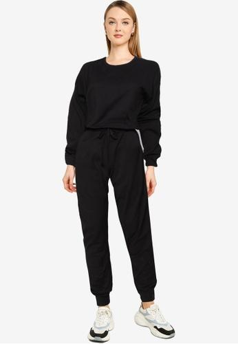 MISSGUIDED 黑色 休閒Loungewear 連身褲 9B5B1AA1668562GS_1