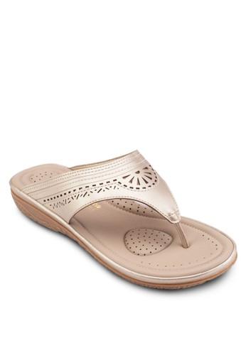 沖孔夾角拖鞋涼鞋esprit hk, 女鞋, 鞋