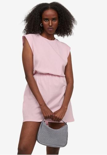 H&M pink Jersey Dress 17A2CAAD01C4B7GS_1