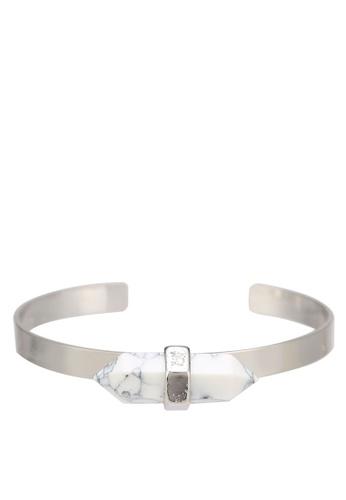 Wanderlust + Co silver Spear Silver & Marble Cuff WA415AC0RF6VMY_1