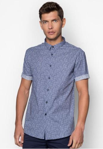 碎花esprit taiwan圖案短袖襯衫, 服飾, 印花襯衫
