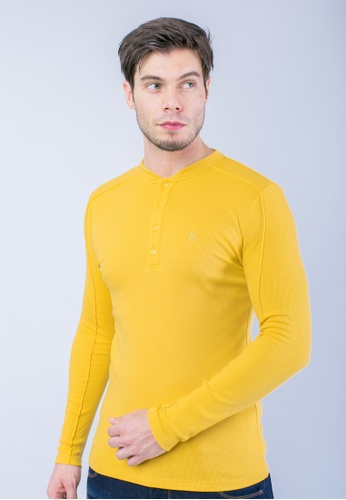 H2 by LEEYANARAHMAN yellow Signature Shirt in Yellow LE767AA0T0PUMY_1