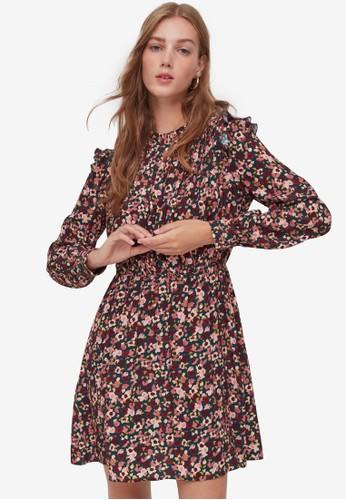 OVS multi Floral Flounce Pleated Dress 3EA84AA07BC5C7GS_1
