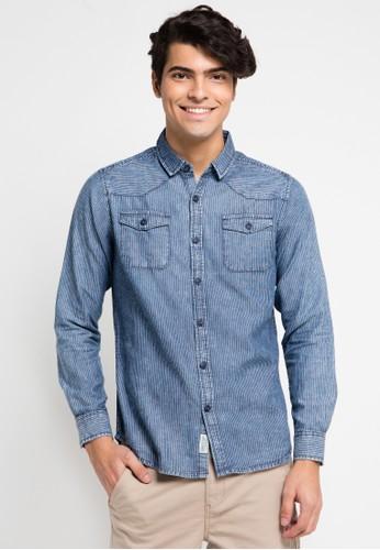 Cressida blue Long Shirts Denim Indigo CR235AA0UQCWID_1