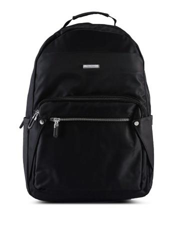 NUVEAU black Lightweight Nylon Backpack B1D28ACF7522EBGS_1