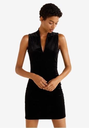 Mango black Velvet Dress B4E34AA3B05F4AGS_1
