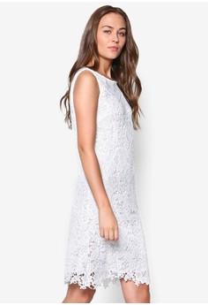 Cream Crochet Lace Shift Dress
