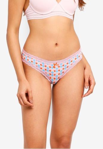 Cotton On Body multi Smooth Lace Trim Bikini Briefs F1504US12DB26DGS_1