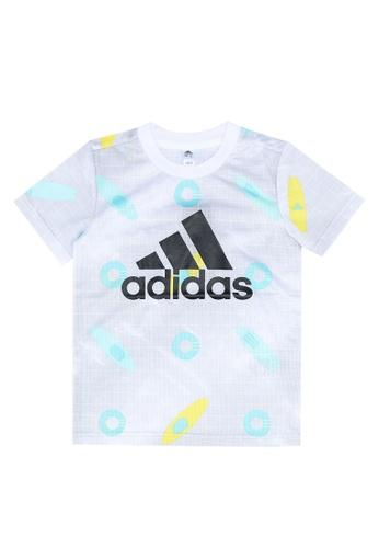 ADIDAS white summer training sports t-shirt 99E68KA4E603A3GS_1