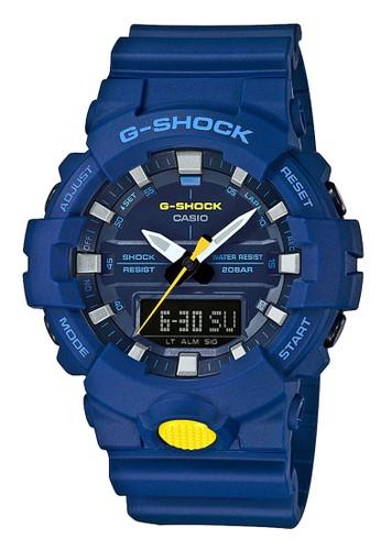 G-Shock blue Casio G-SHOCK Jam Tangan Pria - Blue - Resin - GA-800SC-2ADR 371DEAC518F953GS_1