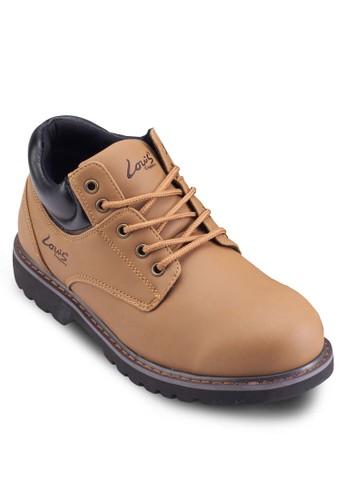 esprit 折扣撞色繫帶踝靴, 鞋, 鞋