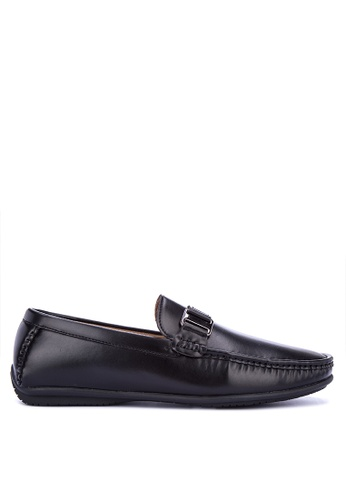 Mendrez black Nigel Loafers & Moccasins 3DFF8SHB34AAFAGS_1