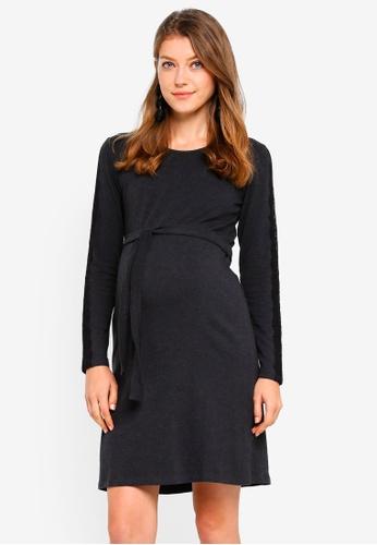 Mama.licious grey Maternity Jersey Dress 94334AA1046B06GS_1