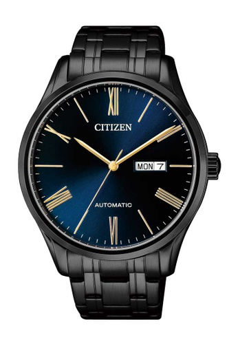 CITIZEN black Citizen Blue and Black Stainless Steel Watch 4206FAC1FF0D0CGS_1
