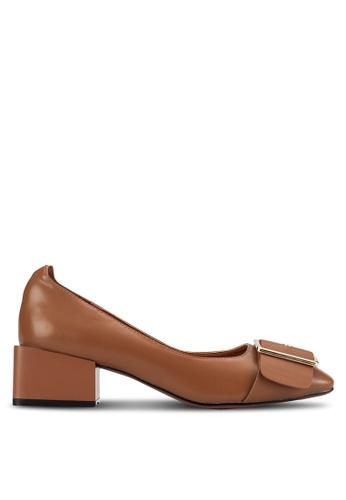 Sunnydaysweety brown 2018 New Classic Block Heels NEWA10121BW 8251FSH0B3FBC1GS_1