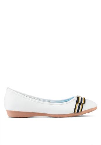 VINCCI white Bow Ballerina Flats A9533SH7A591E7GS_1