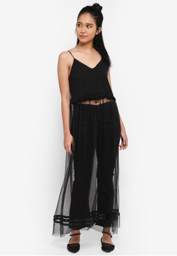Penshoppe black Maxi Fit & Flare Dress A7492AAB98654AGS_1