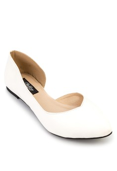Jane Pointed Toe D'orsay Flats