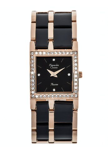 Alexandre Christie black and gold Alexandre Christie Jam Tangan Wanita - Rosegold Black- Stainless Steel - 2314 LHBRGBA 87EC4AC054569FGS_1