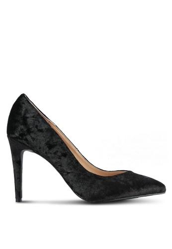 Dorothy Perkins black Black Velvet Evie Court Heels DO816SH0SB70MY_1