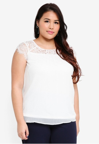 Junarose white Plus Size Carolina Blouse 950C5AA8CD7701GS_1