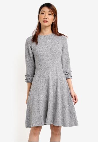 Dorothy Perkins grey Light Fit And Flare Dress DO816AA0SRDOMY_1