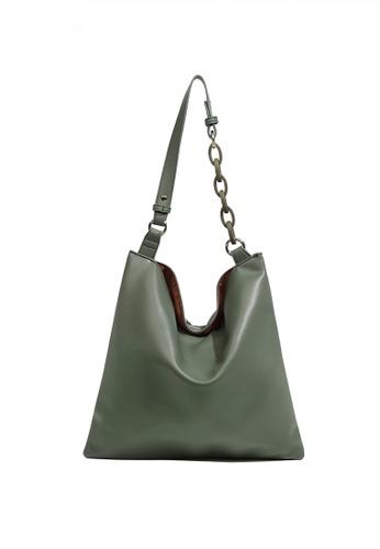 Twenty Eight Shoes green Minimalist Faux Leather Large Capacity Shoulder Bag JW FB-6761 656BFAC82B51AFGS_1