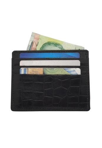 Oxhide black Leather Card Holder with Money - Leather cardholder -Leather Card Case -Card Pouch - Card Sleeve - Oxhide AS1 Black 17B90ACECA0008GS_1