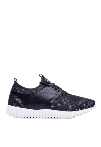 Life8 black Mesh 3D Spring Sport Shoes-09502-Black LI283SH02JRLSG_1