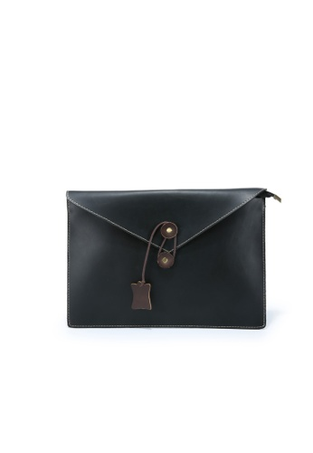 Lara black Men's Plain Hand Bag 5E731ACE7B8A4DGS_1
