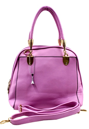 Vintage Paris purple Vintage Paris Chi Chi Shoulder Bag with Sling VI567AC56XZVPH_1