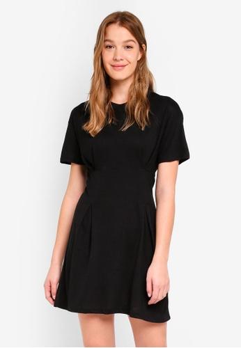 Cotton On black Tory Waisted Detail Tshirt Dress 07903AA911BB0FGS_1