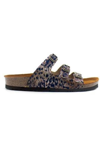SoleSimple multi Ely - Leopard Bronze Sandals & Flip Flops 2B696SH5B72BAEGS_1