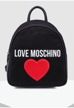 129aaf06bc Love Moschino black Canvas Zip Around Backpack D5353AC066A669GS_1
