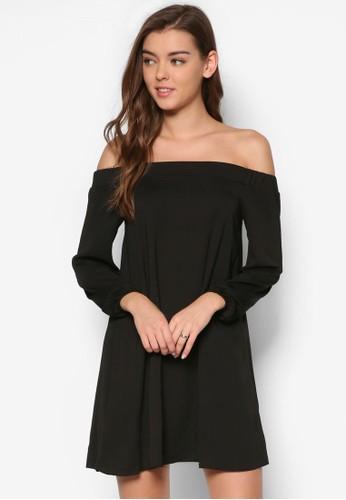 露肩長袖寬擺洋裝, 服飾, esprit 會員洋裝