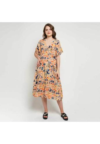 Calla The Label Calla The Label Candice Full Printed Oversized Dress - Multicolor 260F3AA62B2F6AGS_1