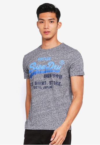Superdry grey Shirt Shop Fade Tee 473BCAA1F36E03GS_1
