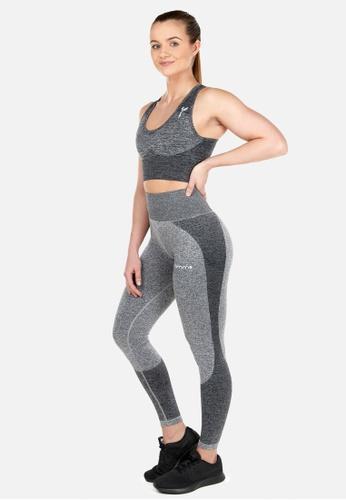 Famme Sportswear grey Famme Sportswear Melange Grey Elevate Wave Leggings 52A03AAB63E3BFGS_1