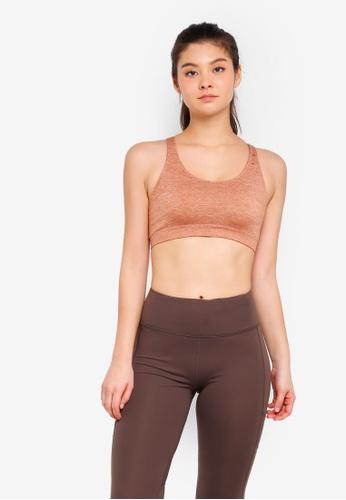 Cotton On Body brown Seamfree Cross Back Sports Crop Bra 9FE62USA24181FGS_1