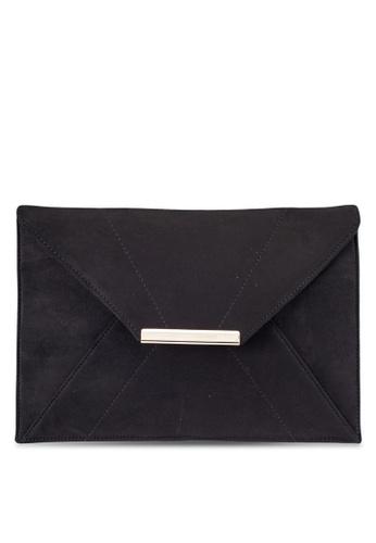 Dorothy Perkins black Black Suede Envelope Clutch DO816AC0RMZNMY_1
