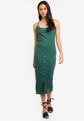 Glamorous green Rib Dress 3B70AAA4568C9AGS_1