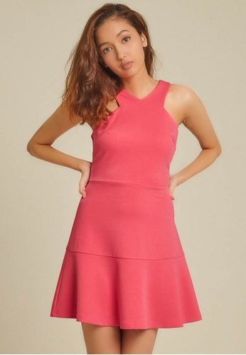 Dressing Paula pink Halter Roma Dress 2E74BAA89C5809GS_1