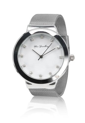 Her Jewellery silver Swarovski® Crystals - Prestige Watch (18K White Gold Plated) Her Jewellery HE581AC0RAYOMY_1