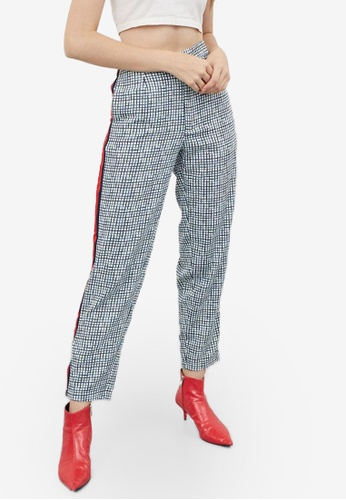 Berrybenka white and multi Ferin Checkered Pants CA23BAABC0EEC3GS_1