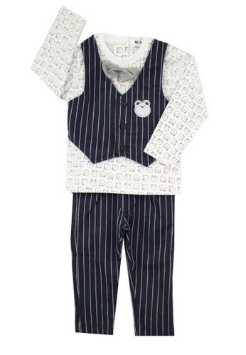 Mini Zo black and white Fabian Baby Set Navy 3AF15KAF465D7FGS_1