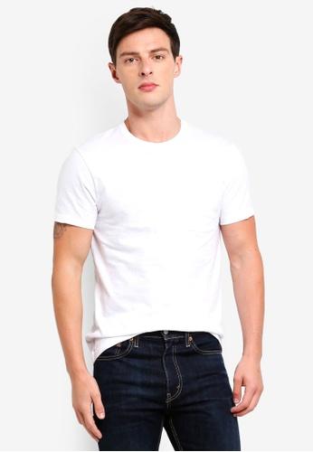J.Crew 白色 休閒口袋T恤 1BB83AA4192F38GS_1