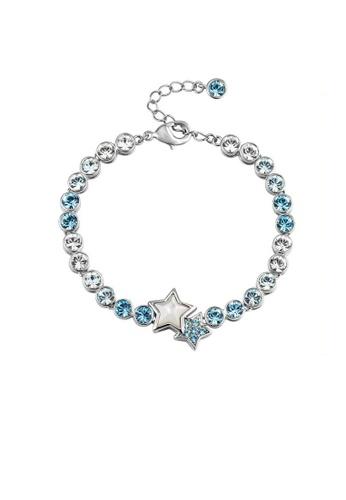 ADORA blue Swarovski Two Star Bracelet 06959ACDA12B90GS_1