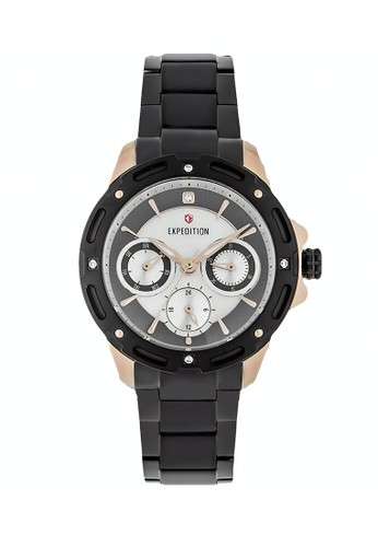 Expedition black Expedition Jam Tangan - Black Rosegold - Stainless Steel - 6760 BFBBRBA AB769AC341140FGS_1